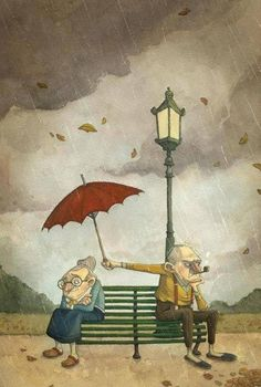 love is to carring for each other even when you are angry !