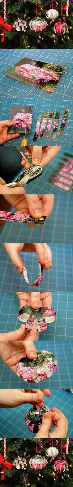 DIY Picture Christmas Balls DIY Projects / UsefulDIY.com