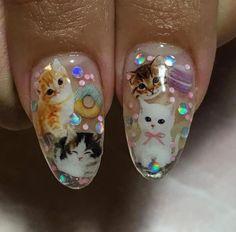 Cute Acrylic Nails, Cute Nails, Pretty Nails, Gel Nails, Nail Polish, Pastel Nails, Stiletto Nails, Art Visage, Kawaii Nails