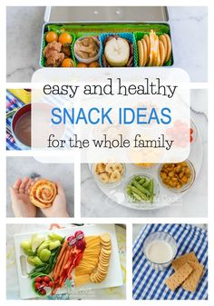 A great list of of easy and healthy snack ideas! from whatlisacooks.com