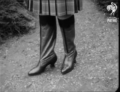 Russian boots in Pathe newsreel, 1930 Something Old, Latest Fashion, Latest Styles, Boots, Eve, British, Crotch Boots, Shoe Boot