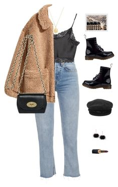 """Untitled #1179"" by greciapaola ❤ liked on Polyvore featuring Brandy Melville, H&M, Mulberry, Theodora Warre, Dr. Martens, Eugenia Kim and Chanel"