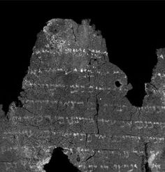 The burned scroll from the 1st centuries C.E., found to contain Torah verses that are identical to modern versions, was deciphered using unprecedented digital technology by American researchers along with a teamfrom the Hebrew University of Jerusalem. By Yori Yalon    Cutting-edg