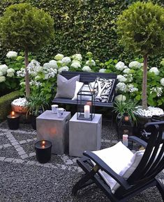 Gardens and cozy candlelight ✨✨ Gorgeous outdoor space and biggest inspo for.:separator:Gardens and cozy candlelight ✨✨ Gorgeous outdoor space and biggest inspo for. Patio Chair Cushions, Patio Chairs, Outdoor Spaces, Outdoor Living, Outdoor Decor, Backyard Patio, Backyard Landscaping, Garden Furniture, Outdoor Furniture Sets