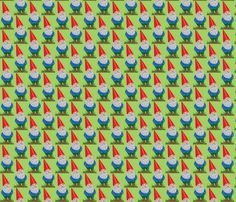 garden gnome fabric by indienook on Spoonflower - custom fabric