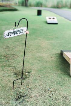Wedding Sign | Cornhole Wedding Games