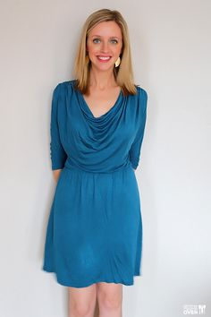 Tart Burton Cowl Neck Dress- this cowl neckline is perfect for busty!