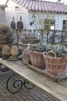 What is Brocante & Why is it Popular? - Vintage American Home - What is Brocante & Why is it Popular? – Vintage American Home What is Brocante & why is it so p - Garden Shop, Dream Garden, Home And Garden, Winter Table, Rustic Lighting, French Decor, French Farmhouse Decor, French Country, Winter Garden