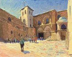 Church of the Holy Sepulcher, Jerusalem Jerusalem, Holi, Artist, Painting, Artists, Painting Art, Holi Celebration, Paintings, Painted Canvas
