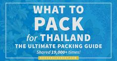 What to Pack for Thailand? The Ultimate Packing Guide – 19,000+ shares and counting!! Find out EXACTLY what clothes, shoes & gear to pack for Thailand (and what to leave at home). Click through to read more: http://www.kohsamuisunset.com/packing/