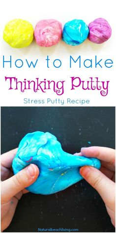 How to Make Stress Putty The Best Stress Putty Recipe perfect sensory play therapy putty for special needs autism and working fine motor skills Best Sensory Dough - Education and lifestyle How To Make Putty, Therapy Putty, Art Therapy Activities, Sensory Therapy, Therapy Ideas, Sensory Activities For Autism, Counseling Activities, Time Activities, Health Activities