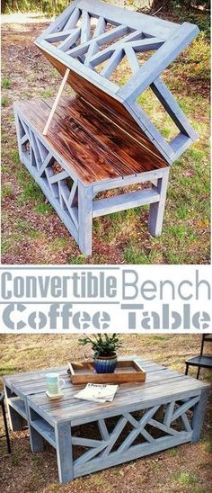 Plans of Woodworking Diy Projects - Plans of Woodworking Diy Projects - Outdoor Convertible Coffee Table Bench DIY Woodworking Plans Get A Lifetime Of Project Ideas & Inspiration! Get A Lifetime Of Project Ideas & Inspiration! Woodworking Projects Diy, Woodworking Bench, Pallet Projects, Diy Projects, Popular Woodworking, Woodworking Shop, Woodworking Machinery, Woodworking Classes, Woodworking Equipment