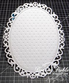 Die cut, then Dry Emboss - by Deneen Treble. Die cut the shape. Leave the cardstock in the die. Use this sandwich, from bottom up: A plate, shim (if needed), embossing folder OPEN, die with cardstock in it, embossing mat, C plate. Great technique!