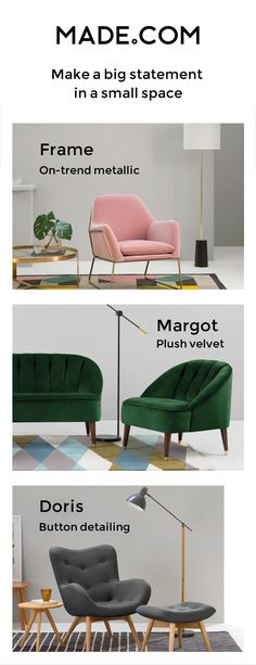 A good chair should be comfortable, beautifully crafted and pleasing to the eye. But we've got bigger ambitions for ours. We want our wingback chairs, dining chairs and bedroom chairs to surprise you. To make a bold impression with daring details, and unexpected finishes.