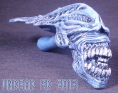 Reserved For Cody Alien Queen Xenomorph Hand Blown by Zoombiez