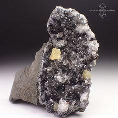 Manganese, Fluorite and Quartz Crystal Specimen, Mibladen Morocco