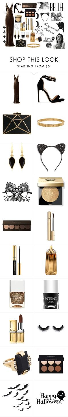 """Halloween Masquerade Ball #3"" by compulsive-liarxo ❤ liked on Polyvore featuring Raey, Cartier, Isabel Marant, Cara, Masquerade, Bobbi Brown Cosmetics, Dolce&Gabbana, Thierry Mugler, Nails Inc. and Elizabeth Arden"