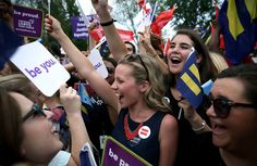 Same-sex marriage supporters rejoice outside the Supreme Court in Washington, D.C., on Friday after the U.S Supreme Court handed down a ruling regarding same-sex marriage. The high court ruled that same-sex couples have the right to marry in all 50 states.