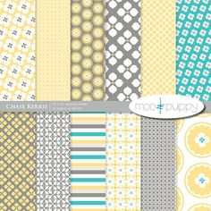Digital Scrapbook Paper Pack --   Chase Custom Kerrie (Buy 2 Get 1 Free) Personal and Small Commercial Use. $3.00, via Etsy.