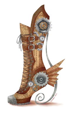 Undercover Dress-Up Lover: Steampunk Long Fall Boot. Looks like a steampunk version of the Portal boots