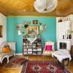 Boheemi ja persoonallinen huvikumpu täynnä värejä   Meillä kotona