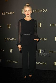 Julianne Hough Is Bewitching In Black At Escada & W's Cool Earth Celebration