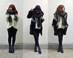 Stradivarius Scarf, Izzue Duffle Coat, Monki Knitted Top