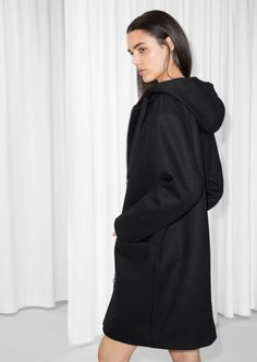 & Other Stories image 3 of Hooded Coat in Black