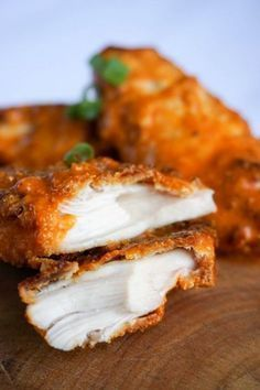 Keto buffalo chicken tenders... if you're looking for that same crunchy texture, this will be disappointing. Good, but not the same as the real thing.