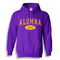 32757aa3348f33 Delta Phi Epsilon Alumna Sweatshirt Hoodie from GreekGear.com Gamma Sigma  Sigma