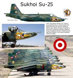 "Sukhoi Su-25 - Fuerza Aerea del Perù (FAP) - Velivolo ""077"", 112° Esquadron Aereo ""Tigers"", 11° Grupo Aereo, Talara, Aprile 2005"