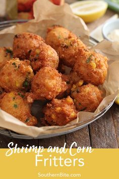 Whether served as an appetizer or main course, this recipe for Shrimp and Corn Fritters has a few secrets that make it amazingly easy and ridiculously delicious! # Easy Recipes fish Easy Shrimp and Corn Fritters Fish Recipes, Seafood Recipes, Appetizer Recipes, Cooking Recipes, Shrimp Appetizers, Aloo Recipes, Cooking Courses, Recipes For Shrimp, Bread Recipes
