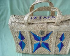 Woven Bag Satchel Beach Tote Vintage 1970s Rattan by vicmizzy, $22.00