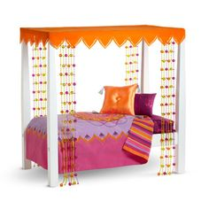 American Girl Furniture: Julie's Bed & Bedding. I love this bed!!
