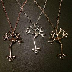 Science Jewelry Neuron Brain Nerve Necklace Geek Jewelry Nerd Anatomy Jewelry Science Art Gift for Doctor Neurologist Nurse EMT