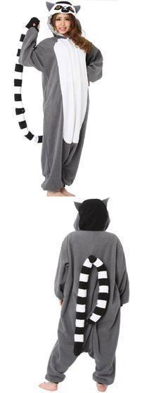 Unisex 86207: Wotogold Animal Cosplay Costume Unisex Adult Lemur Pajamas Medium -> BUY IT NOW ONLY: $38.1 on eBay!