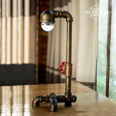 53.60$  Buy now - http://aliwcv.worldwells.pw/go.php?t=32695262032 - American LED Vintage Desk Table Lamp For Bedroom Living Room LED Beside Lamps Lampara Luminaira De mesa Abajur Para Quarto