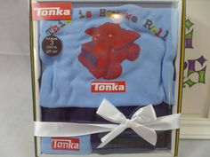 Tonka Infant Boy Truck  0-9 Months 3-pc gift set Hat Pants One Piece Hasbro New #HasbroMonCheriBaby #DressyEverydayHoliday