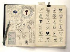 "A peak inside Anna Rusakova's ""Moleskine Illustration Project"" from her Behance online portfolio."
