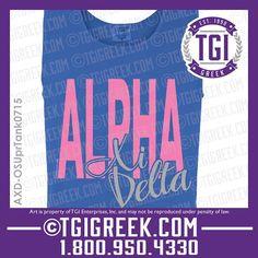 TGI Greek - Alpha Xi Delta - Sorority PR - Comfort Colors - Tanks - Greek Apparel - Bid Day Gifts #tgigreek #alphaxidelta #bidday