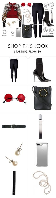 """""""A manifestation of young style"""" by anna-modestovna ❤ liked on Polyvore featuring WithChic, Burberry, STELLA McCARTNEY, M&Co, Gucci, J.Crew, Speck, Antonym and Mikimoto"""