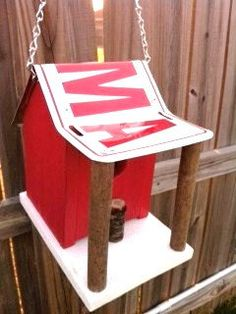 Alabama Crimson Tide Rustic License Plate Birdhouse by sturchr, $24.95