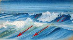 Comment dessiner les vagues avec des lignes de contour croisées
