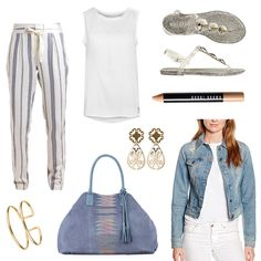 OneOutfitPerDay 2016-09-01 - #ootd #outfit #fashion #oneoutfitperday #fashionblogger #fashionbloggerde #frauenoutfit #herbstoutfit - Frauen Outfit Outfit des Tages Sommer Outfit Armband Armreif Better Rich Blau Blaumax Bobbi Brown Culture Holster Jacke Liebeskind Liebeskind Berlin Ohrringe Sandalen Shopper SNÖ SNÖ of Sweden Stoffhose Tasche Top TOSH weiss