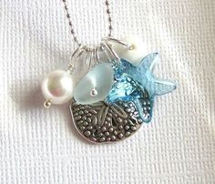 Sea Glass Necklace Big Island Beach Glass by GardenLeafSeaside