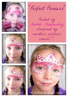 Starlet's Face Painting - Princess crown/mask tutorial