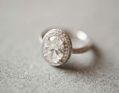 This oval engagement ring is timeless.