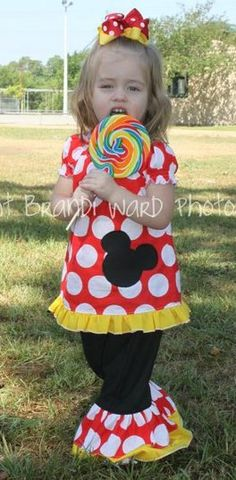 The Mickey Mouse Minnie Mouse Outfit  Custom by girlystone on Etsy, $34.00