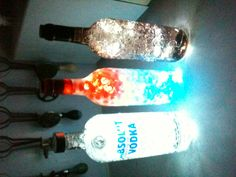 Wine bottles & vodka night light