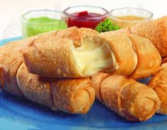 TEQUEÑOS, fried dough with cheese inside, you ppl should try!! Venezuelan food ROCK